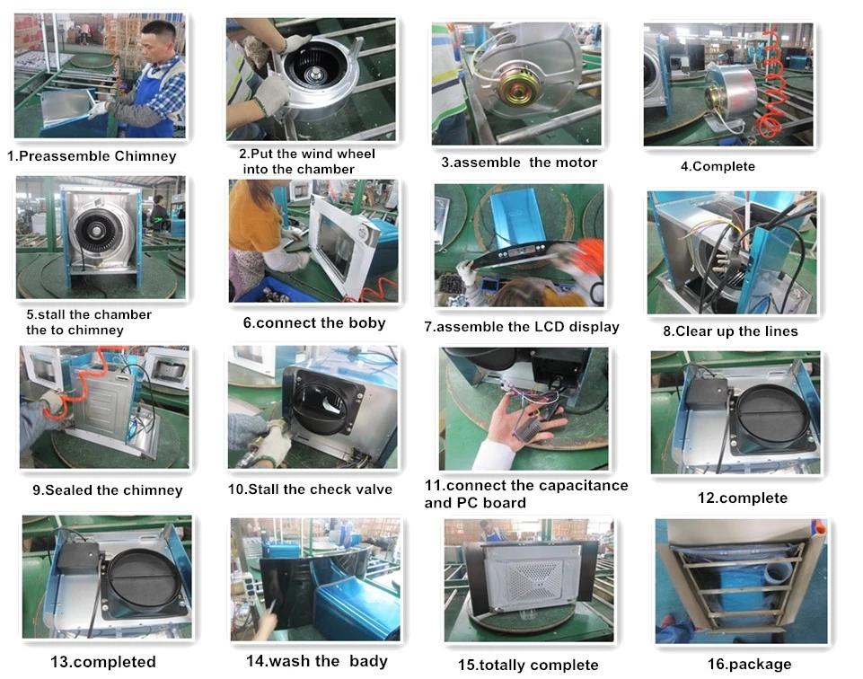 油烟机加工制造厂家过程
